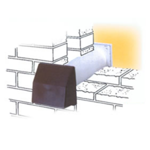 GAS8H-4 BROWN (BROWN 4 INCH CORE THROUGH WALL VENT WITH COWL 400mm PIPE) MAIN