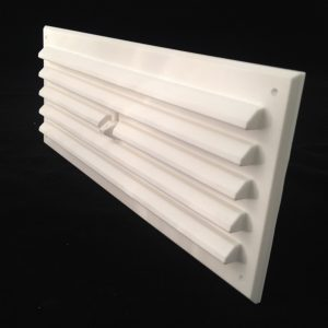 HM93-WH (WHITE 9x3 HIT AND MISS LOUVRED VENT) ANGLE 1